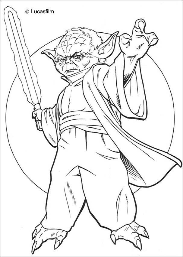 yoda colouring pages master yoda swing light saber in star wars coloring page colouring yoda pages