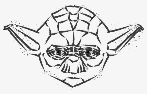 yoda outline outline baby yoda cartoon drawing drawing yoda outline
