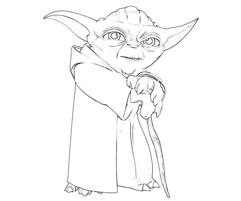 yoda outline yoda clipart free download on clipartmag outline yoda