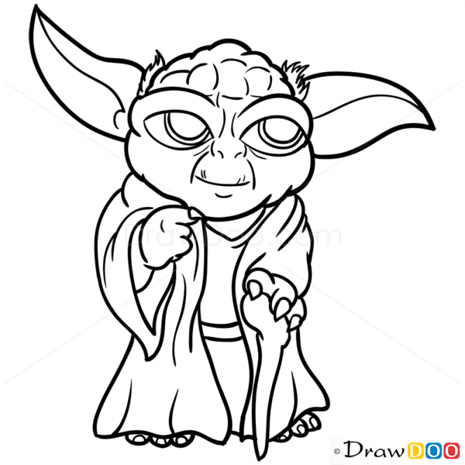 yoda outline yoda silhouette try not do or do not there is no try outline yoda