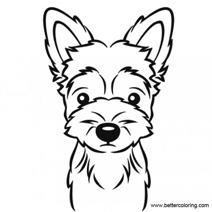 yorkie puppy coloring pages yorkie coloring pages black and white free printable coloring puppy pages yorkie