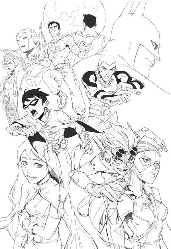 young justice colouring pages young justice coloring pages coloring home young colouring justice pages
