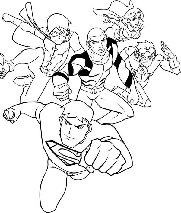 young justice colouring pages young justice issue 3 cover by miketron2000 on deviantart young justice colouring pages