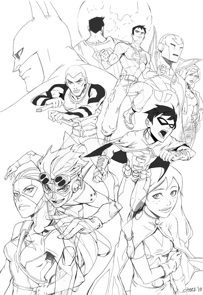 young justice colouring pages young justice nightwing coloring page free printable pages justice young colouring