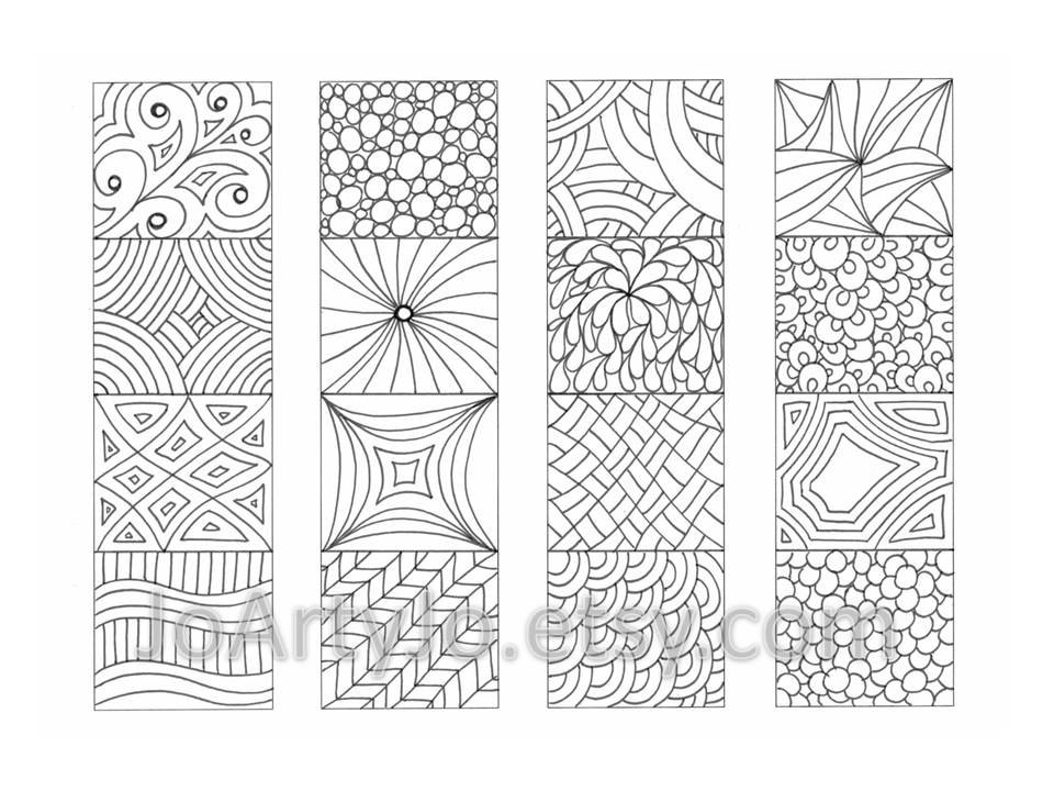 zentangle printables coloring bookmarks zendoodle zentangle inspired printable printables zentangle