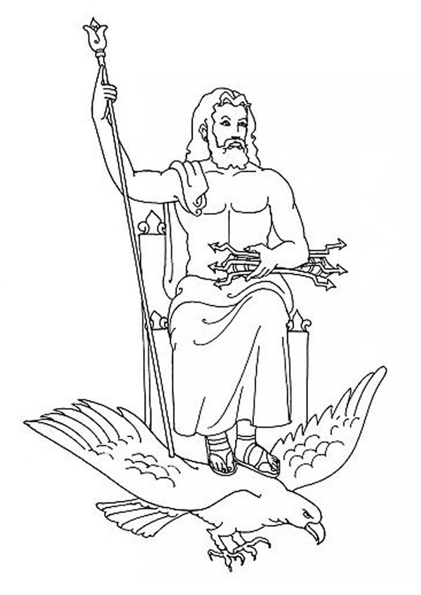 zeus drawing zeus from greek gods and goddesses coloring page netart drawing zeus