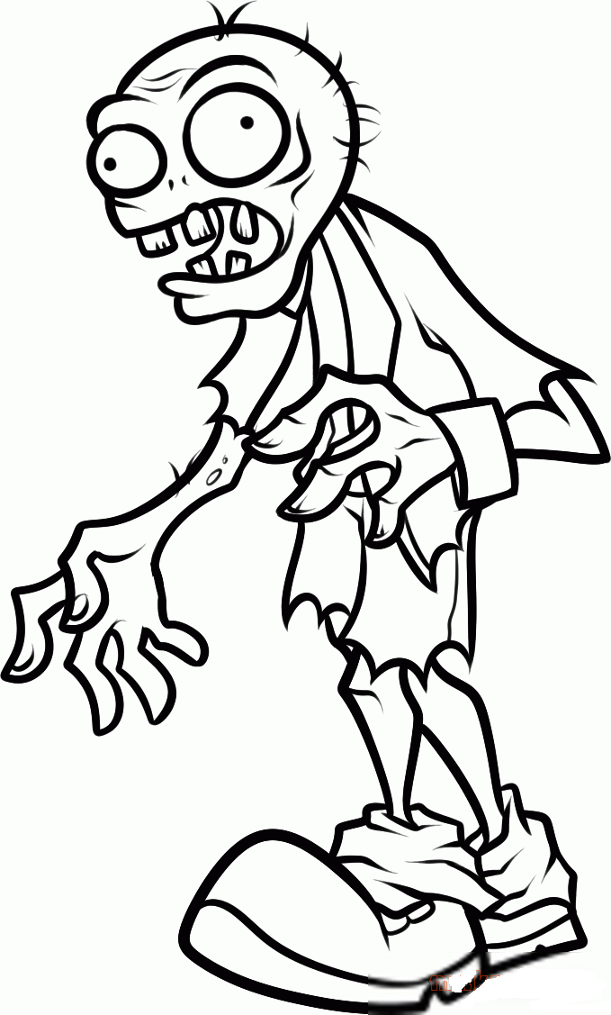 zombie coloring page cartoon zombie coloring pages at getcoloringscom free page coloring zombie