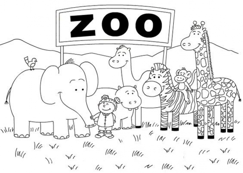 zoo coloring picture get this zoo coloring pages free to print 56347 coloring zoo picture