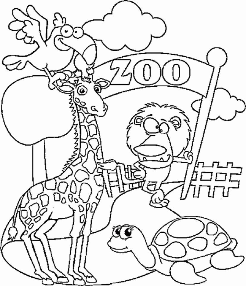 zoo coloring picture zoo animal coloring pages elegant get this preschool zoo zoo coloring picture
