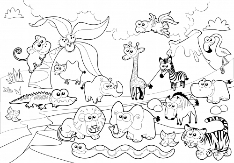 zoo coloring picture zoo animales colorear dibujos gratis coloring zoo picture