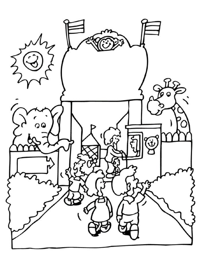 zoo coloring picture zoo animals free colouring pages picture zoo coloring