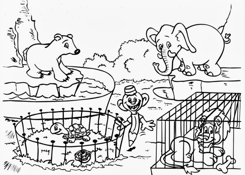 zoo coloring picture zoo coloring pages print color craft picture zoo coloring