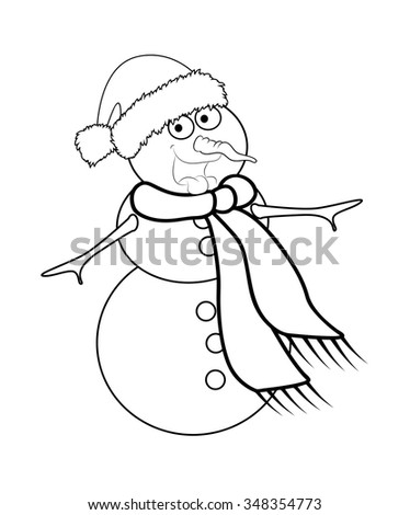zoo keeper hat coloring page cartoon zookeeper man with a snake stock vector coloring keeper zoo page hat