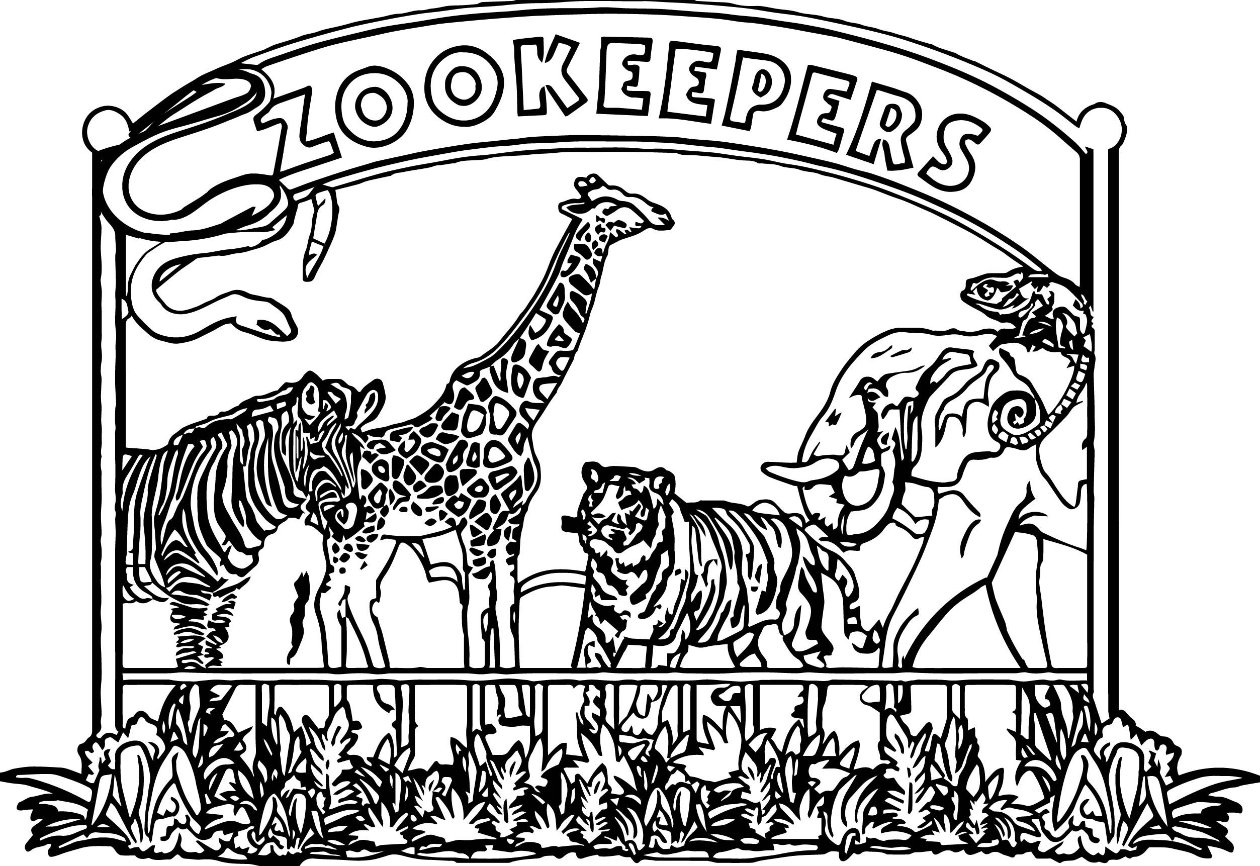 zoo keeper hat coloring page zookeeper hat coloring coloring coloring pages coloring hat page keeper zoo