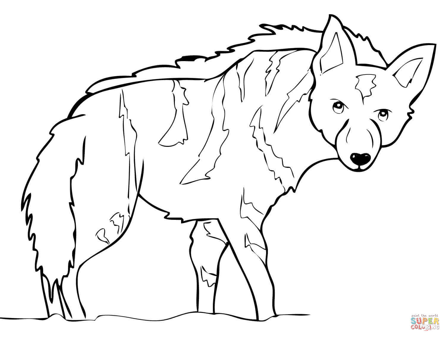 african wild dog coloring pages new guinea singing dog portrait coloring page free dog african coloring wild pages