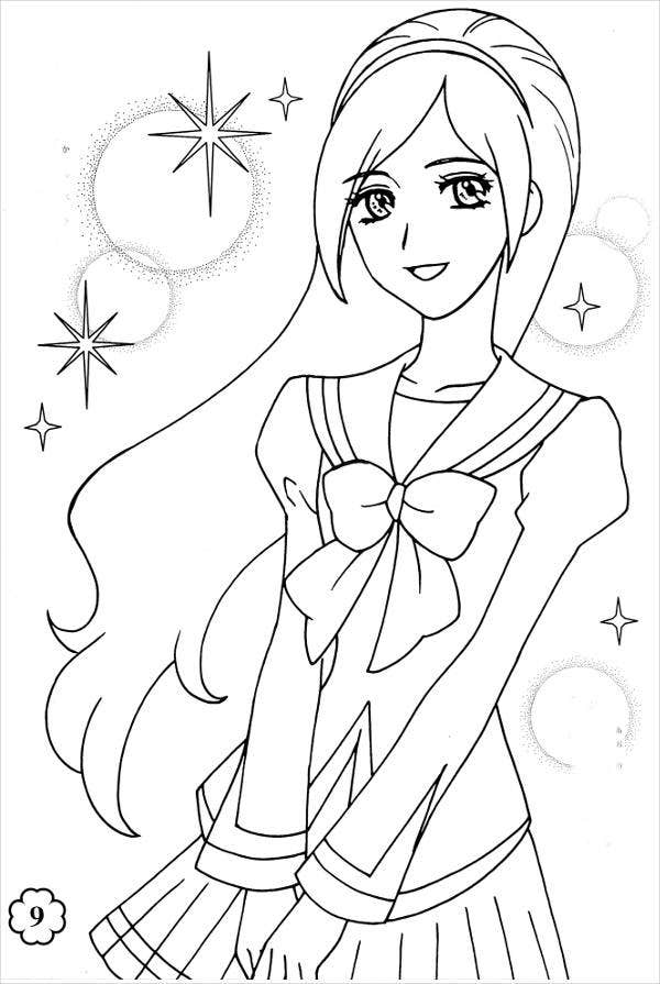 anime colour in anime cat girl coloring pages coloring home anime in colour