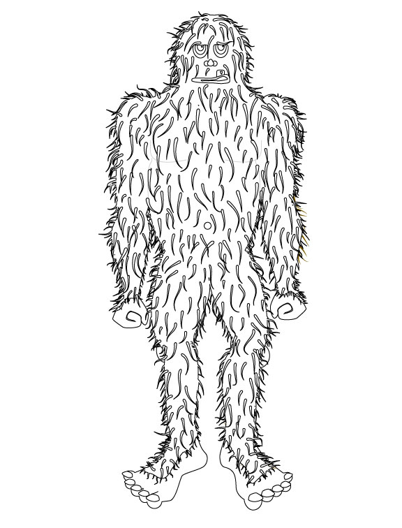 bigfoot coloring pages coloring online coloring and coloring pages on pinterest bigfoot coloring pages
