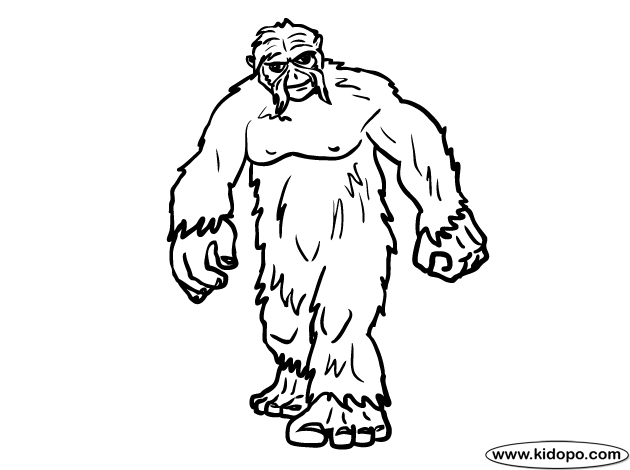 bigfoot coloring pages download sasquatch coloring for free designlooter 2020 bigfoot coloring pages