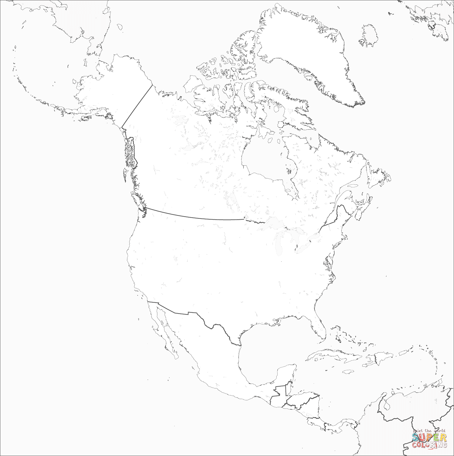 coloring map north america north america map coloring page free printable coloring north america map coloring