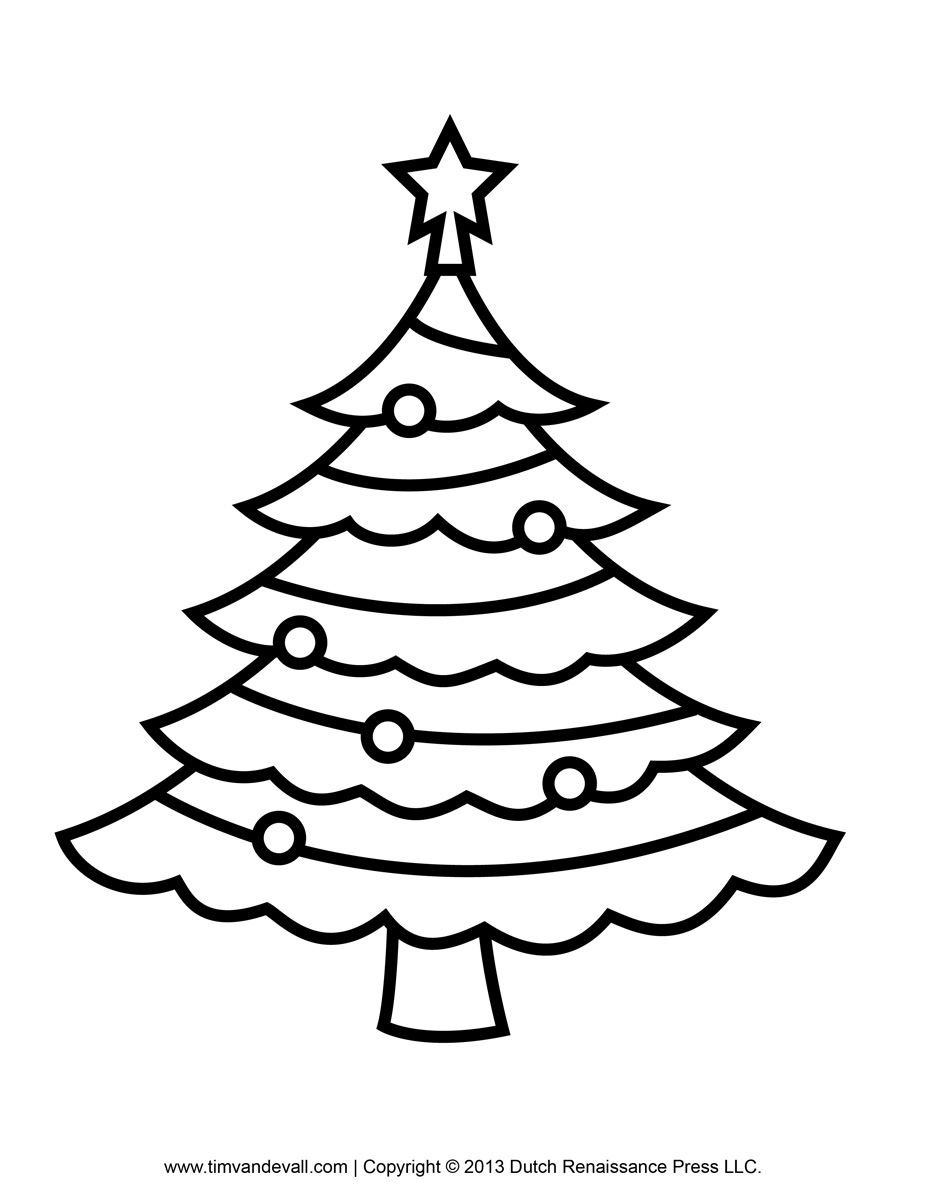 coloring page of a tree free printable christmas tree templates page of coloring a tree
