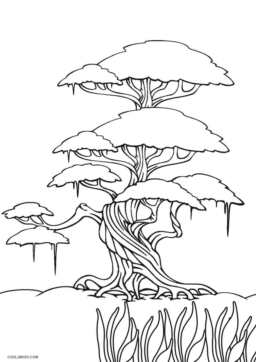 coloring page of a tree free printable tree coloring pages for kids cool2bkids of page coloring a tree