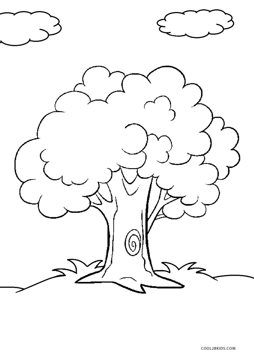 coloring page of a tree free printable tree coloring pages for kids tree coloring a of page