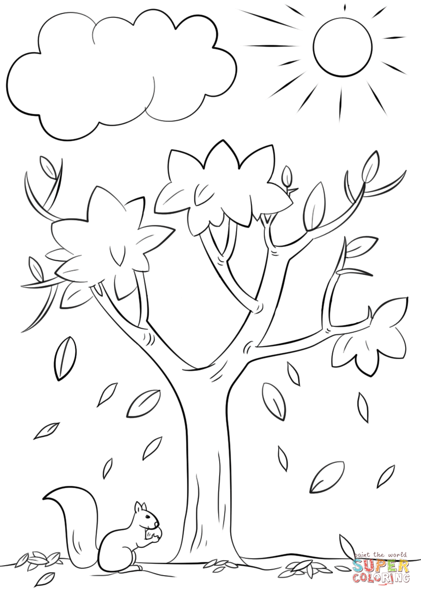 coloring page of a tree trees coloring pages download and print trees coloring pages a tree page coloring of