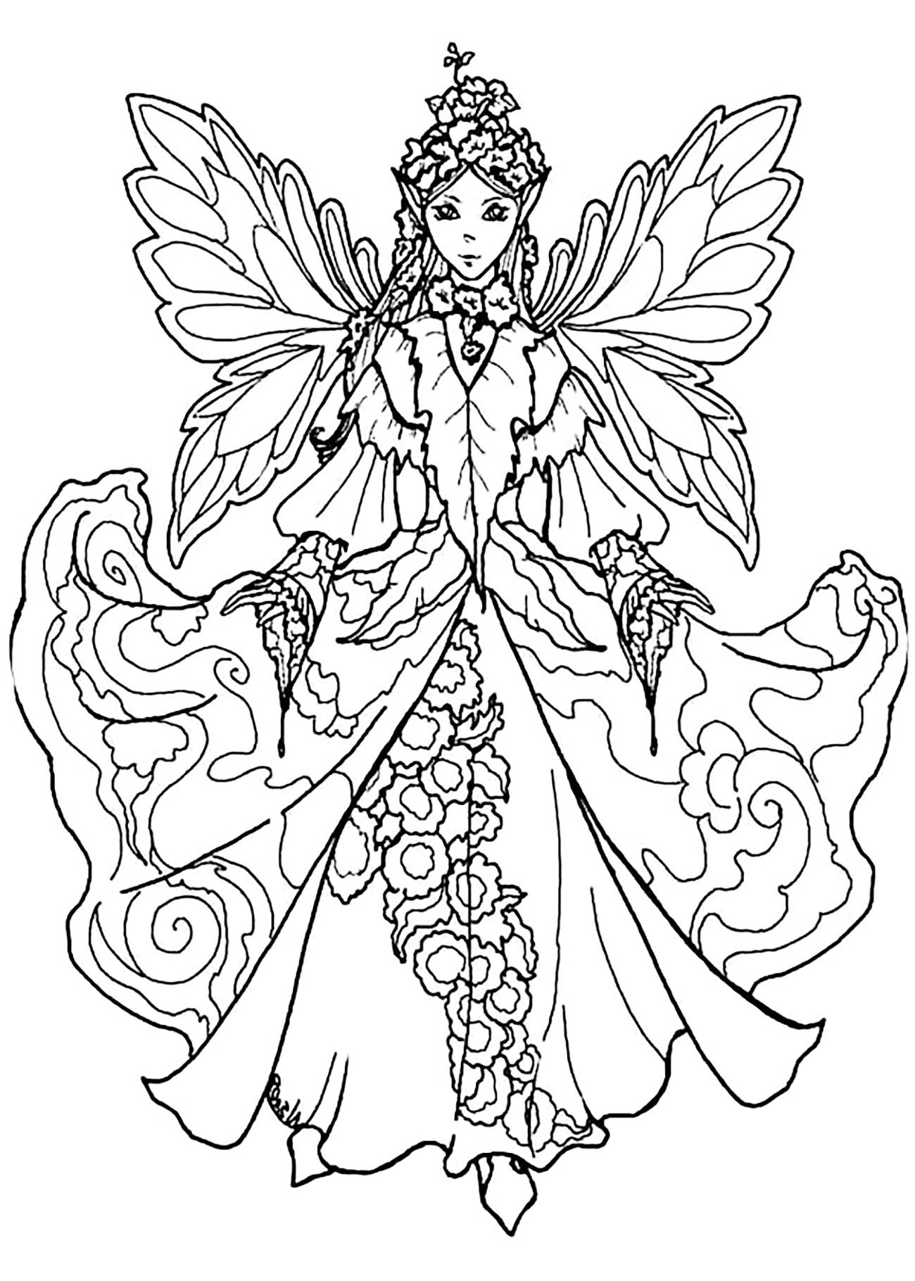 fairies coloring pages free printable fairy coloring pages for kids fairies coloring pages