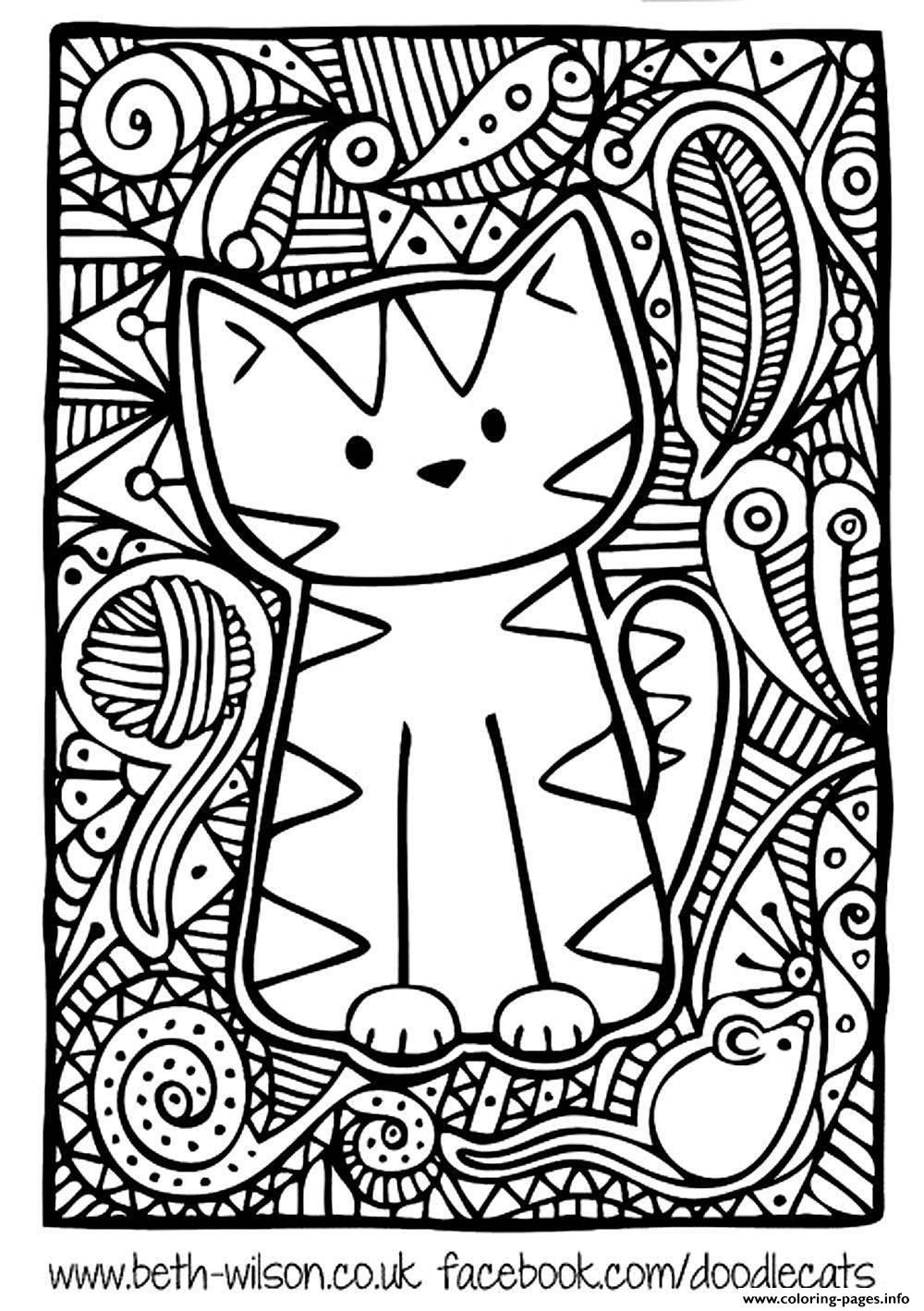 hard cute cat coloring pages adult difficult cute cat coloring pages printable cute hard cat pages coloring