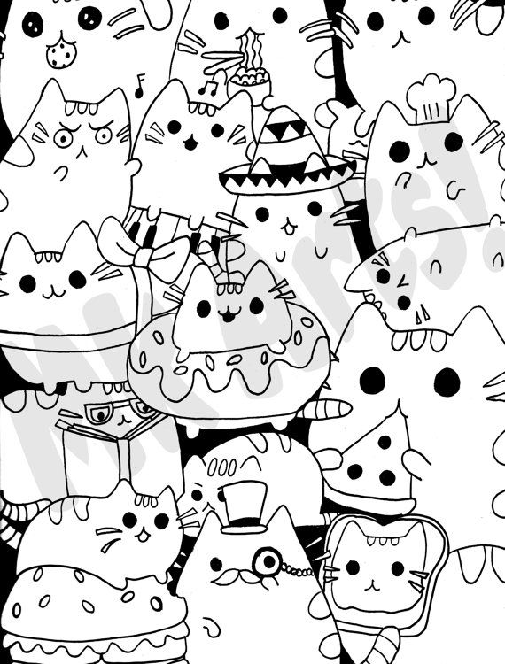 hard cute cat coloring pages cat coloring pages color online free printable pages cat hard coloring cute