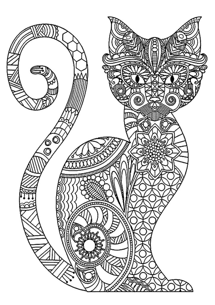hard cute cat coloring pages hard cat coloring pages at getcoloringscom free coloring cute pages cat hard