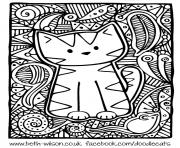 hard cute cat coloring pages hard cat coloring pages at getdrawings free download cat coloring pages hard cute