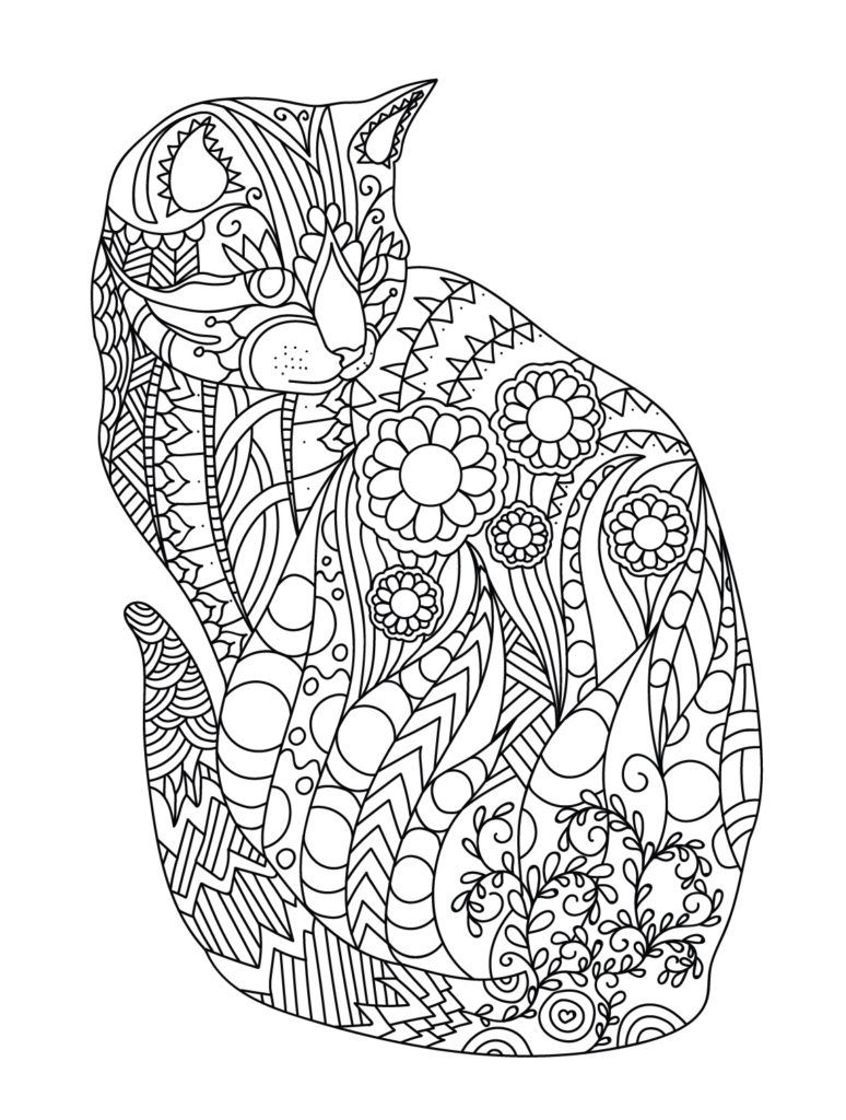 hard cute cat coloring pages kitten coloring pages downloadable educative printable cat coloring cute hard pages