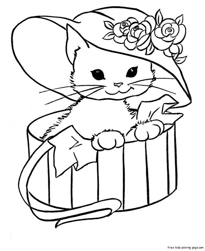 hard cute cat coloring pages kitten coloring pages hard cat cute coloring pages