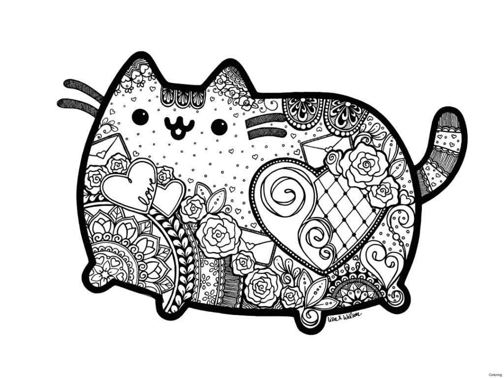 hard cute cat coloring pages to print this free coloring page coloring adult difficult cute pages hard coloring cat