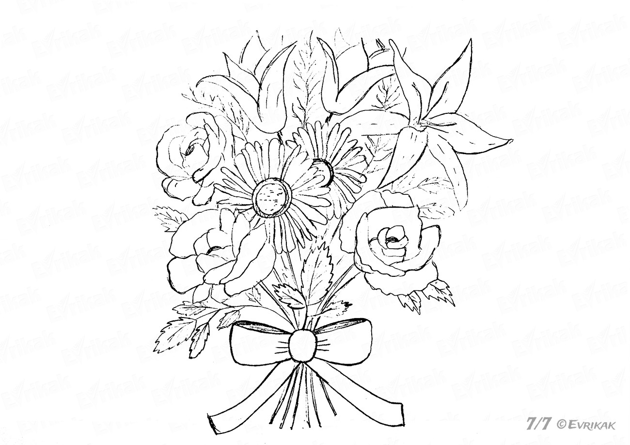how to draw bouquet of flowers bouquet of roses drawing at getdrawings free download of bouquet flowers draw how to