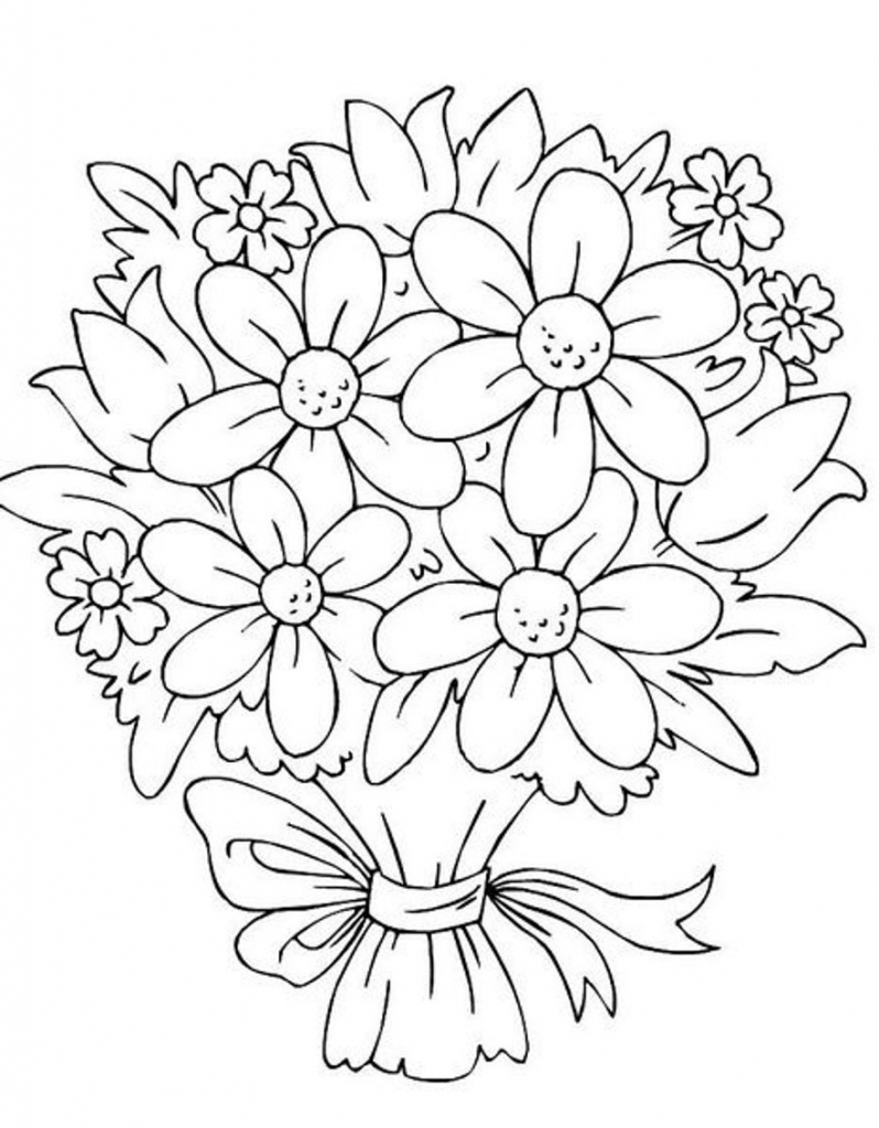 how to draw bouquet of flowers draw bunch of flowers bunch of flowers drawing flower of flowers draw bouquet to how