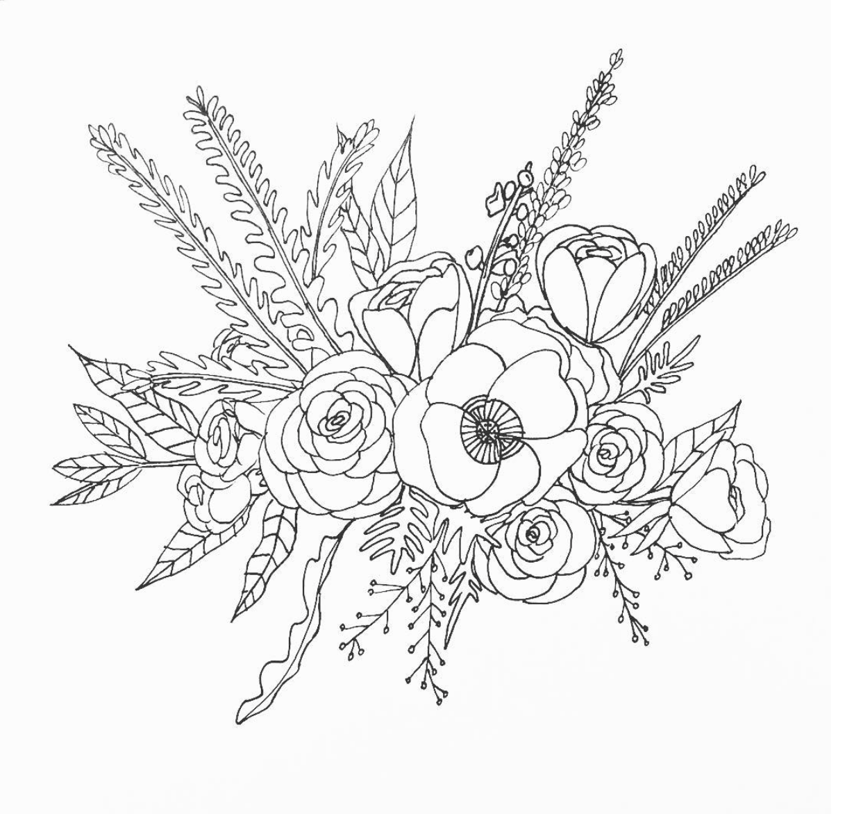 how to draw bouquet of flowers easy flower bouquet drawing step by step tutorial how flowers to of bouquet draw