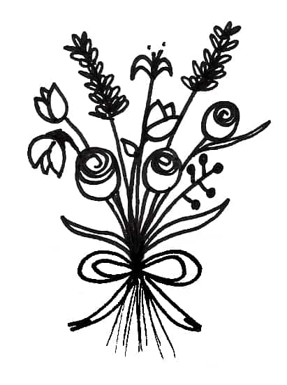how to draw bouquet of flowers flower bouquet drawings clipart best bouquet to how of flowers draw