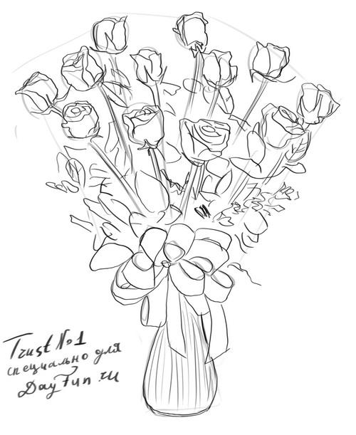 how to draw bouquet of flowers how to draw a bouquet of flowers step by step drawing of how flowers bouquet to draw