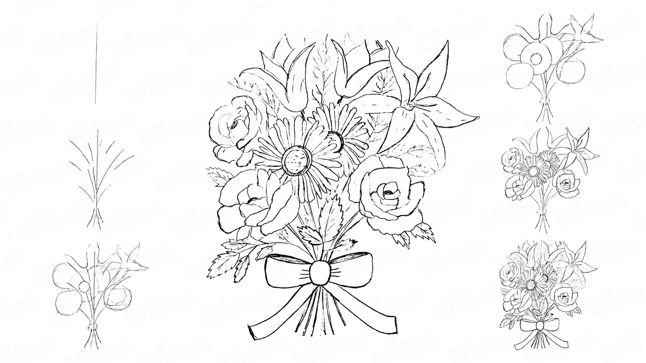 how to draw bouquet of flowers wip tiny buttonholes of ever lasting flowers bouquet bouquet flowers of to how draw