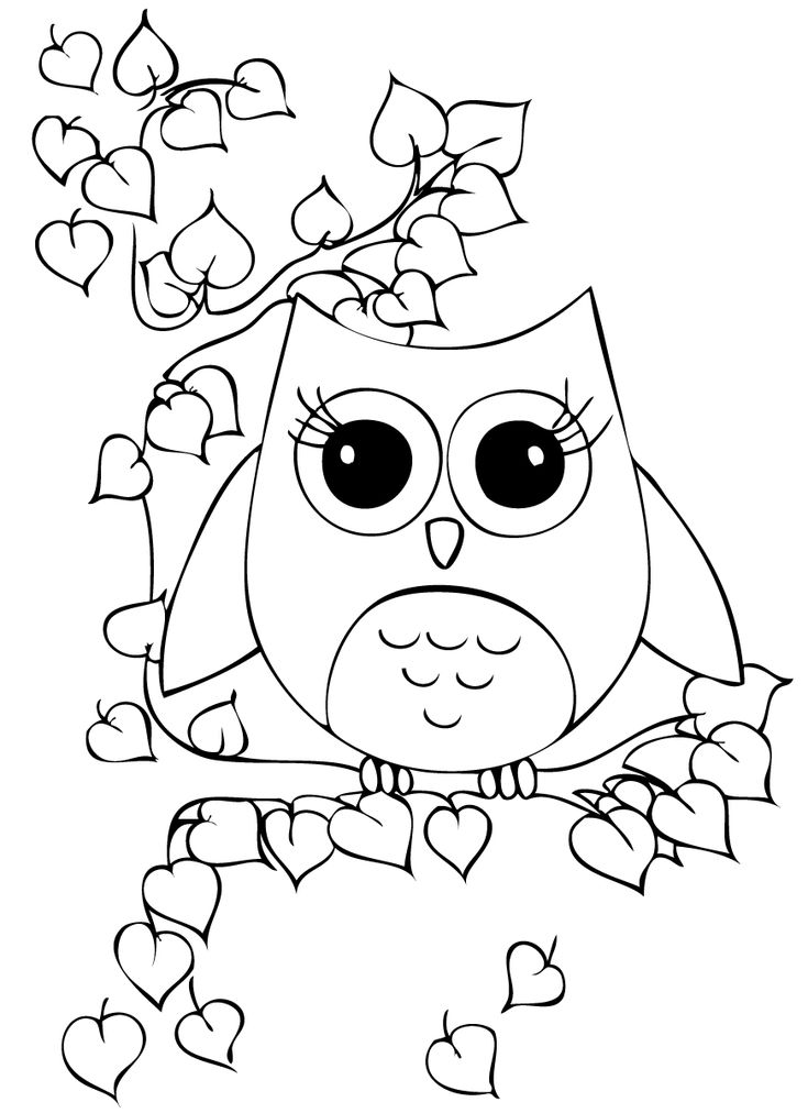 owl print out coloring pages owls brownie meeting ideas pages coloring owl print out