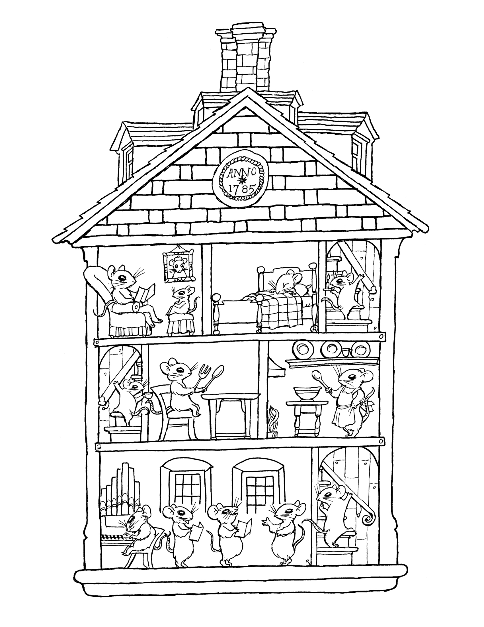 pictures of houses to color cute cozy house coloring page  free clip art to of pictures color houses