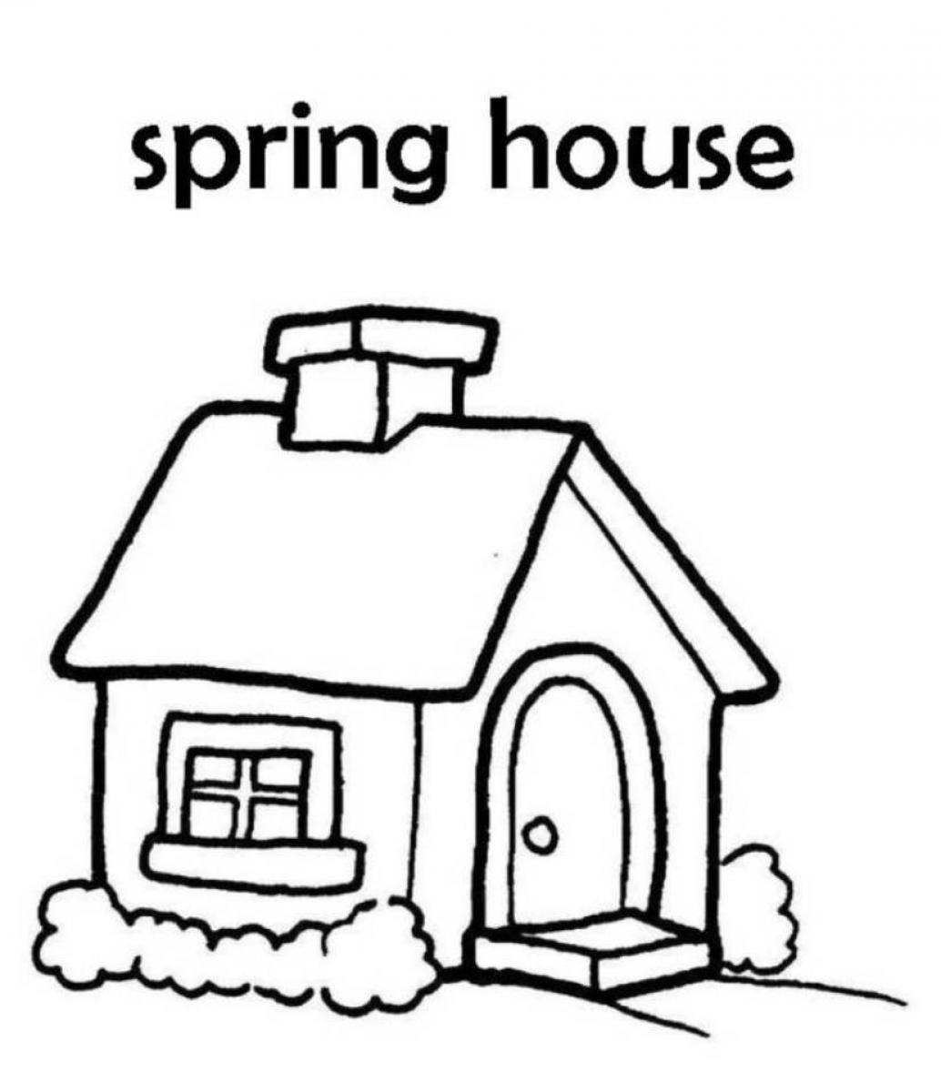 pictures of houses to color free printable house coloring pages for kids pictures houses to color of