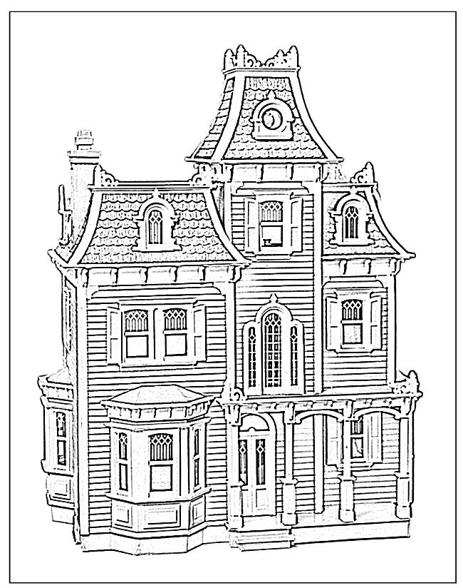 pictures of houses to color victorian houses coloring pages download and print for free pictures of houses color to