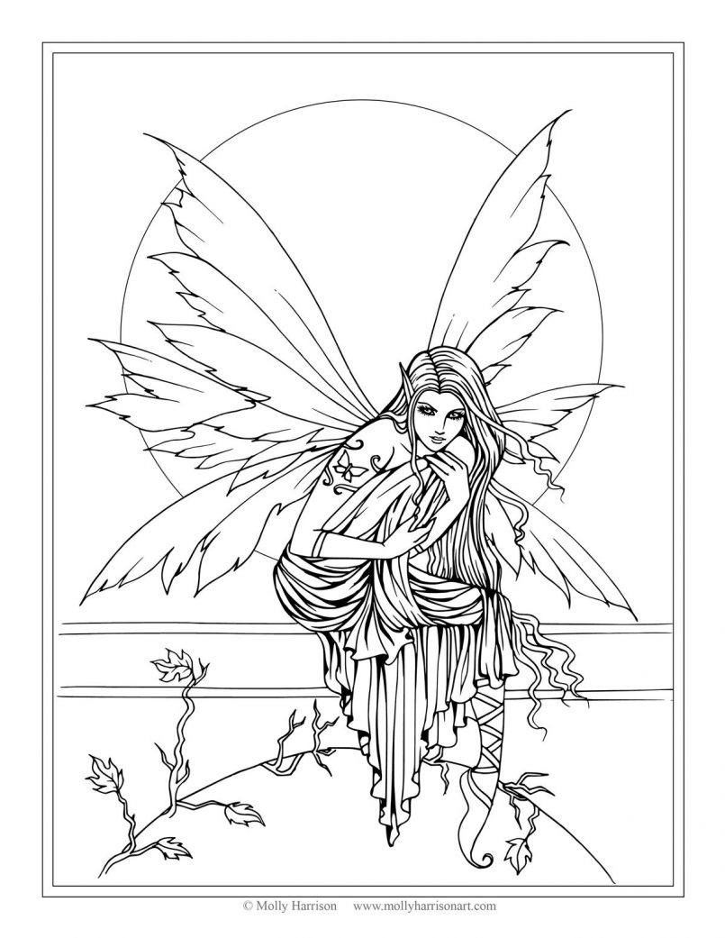 realistic printable fairy coloring pages coloring pages of fairies for adults coloring home coloring printable realistic fairy pages
