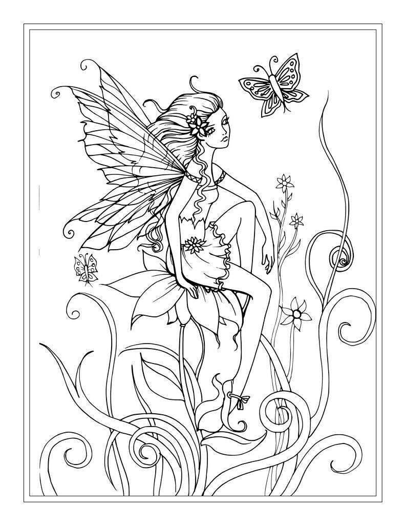 realistic printable fairy coloring pages pin by jessica leighann on adult coloring pages fairy realistic coloring printable fairy pages