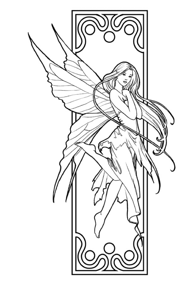 realistic printable fairy coloring pages realistic fairy coloring pages at getcoloringscom free coloring fairy printable pages realistic