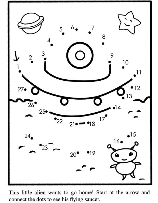 space dot to dot printables cute space alien dot to dot printable worksheet connect dot dot printables space to