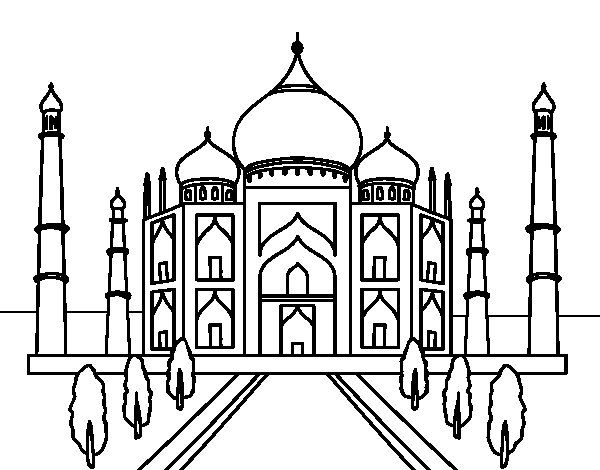 taj mahal outline sketch realistic drawing of taj mahal coloring page taj mahal sketch outline taj mahal